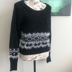 Black and white sweater size medium